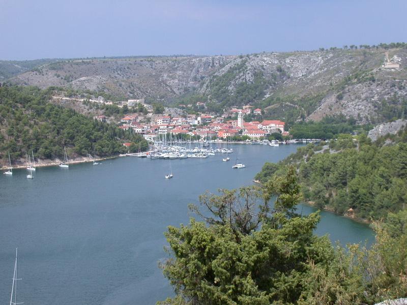 Einfahrt zum Krka Nationalpark